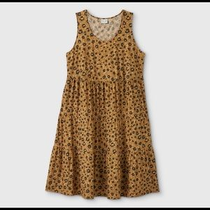 NEW Ava & Viv Sleeveless Animal Print Dress, 1X